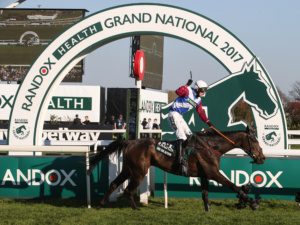 ONE FOR ARTHUR (Derek Fox) Wins The Randox Health Grand National at Aintree 8/4/17Grossick PhotographyThe SteadingsRockhallheadCollinDumfriesDG1 4JWTel: 07710461723